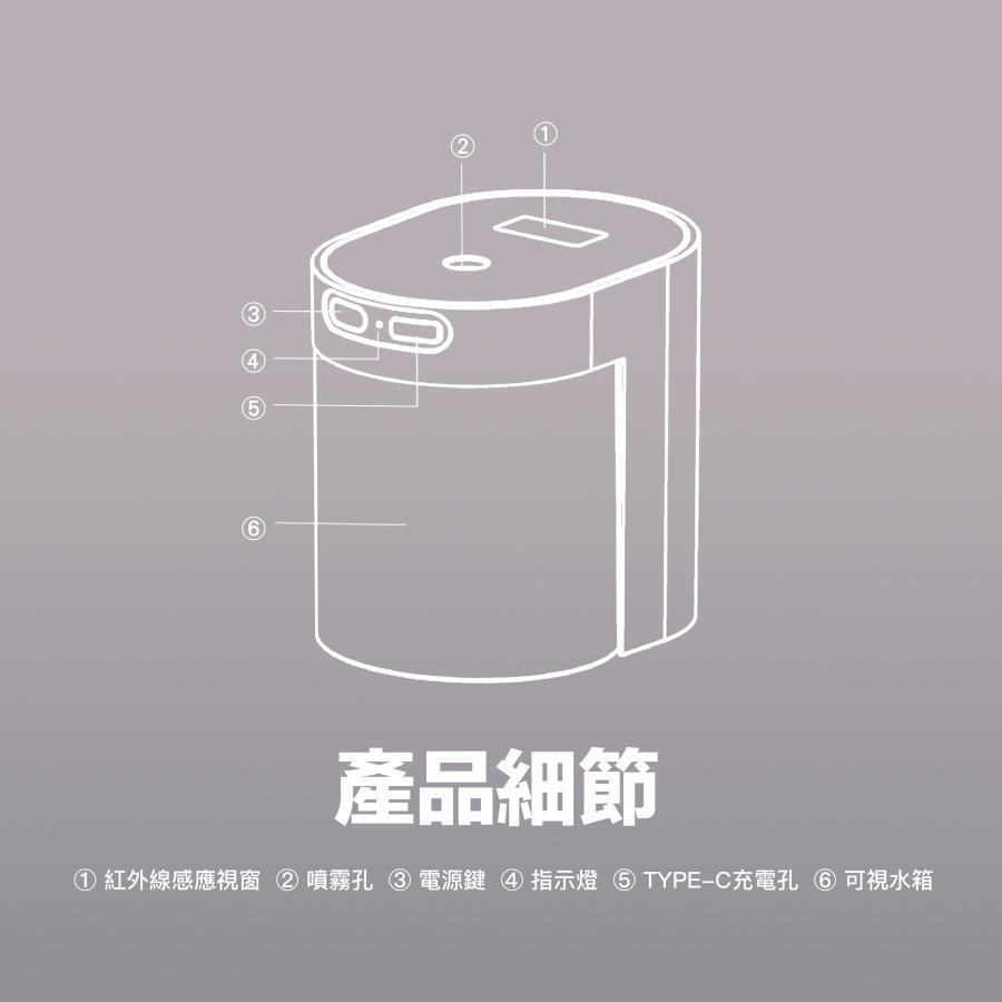 台灣 InfoThink 小熊醫生 智慧感應酒精消毒噴霧機