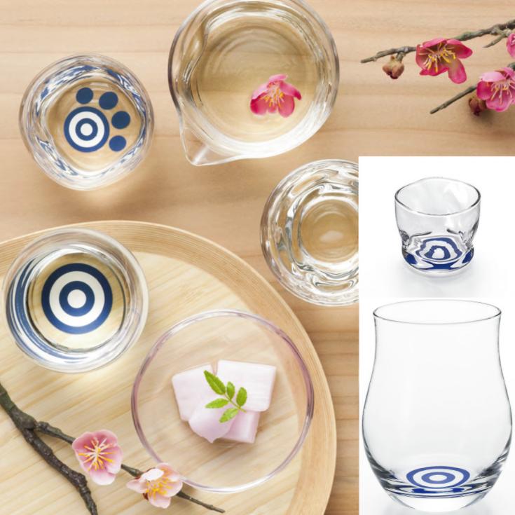 清酒專用窄身豬口玻璃杯(日本直送)