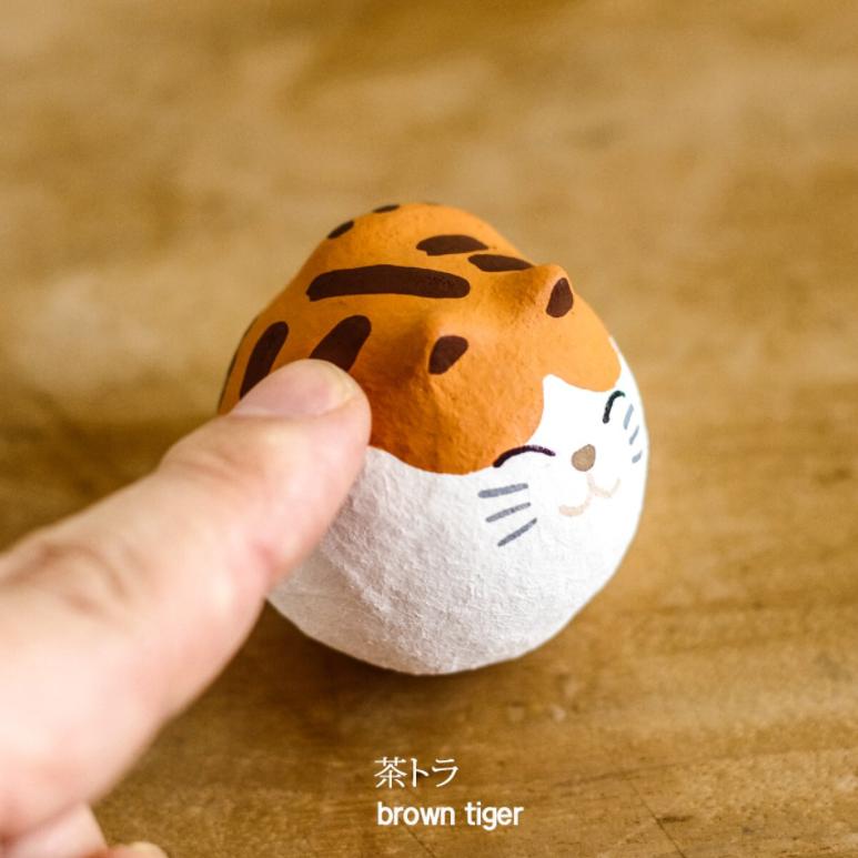 手工制日本紙貓球不倒翁(日本直送)